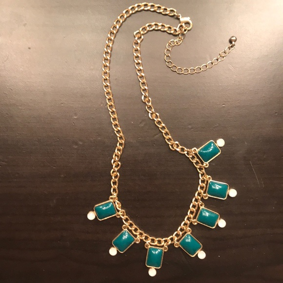 Francesca's Collections Jewelry - Gold and Forest Green Delicate Statement Necklace